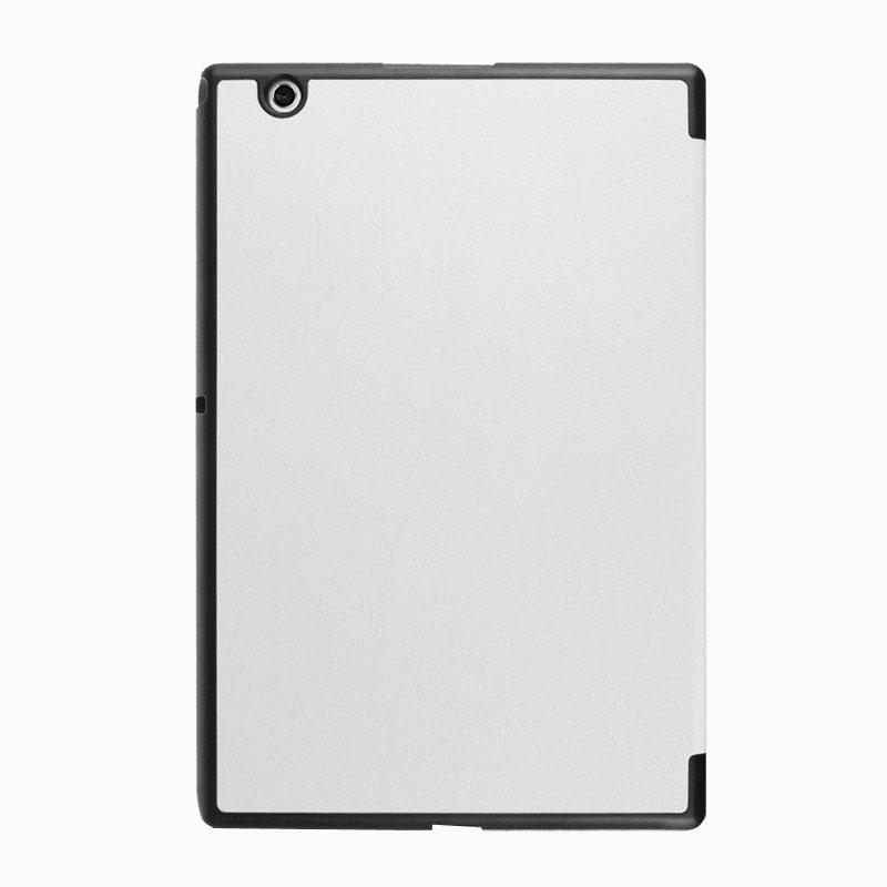 AMZER Cross Texture Horizontal Flip Leather Case with 3-fold Holder For Sony Xperia Z4 Tablet -White