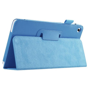 AMZER Texture Solid Color Leather Case with Holder For Huawei MediaPad M1 / S8-301W - Blue