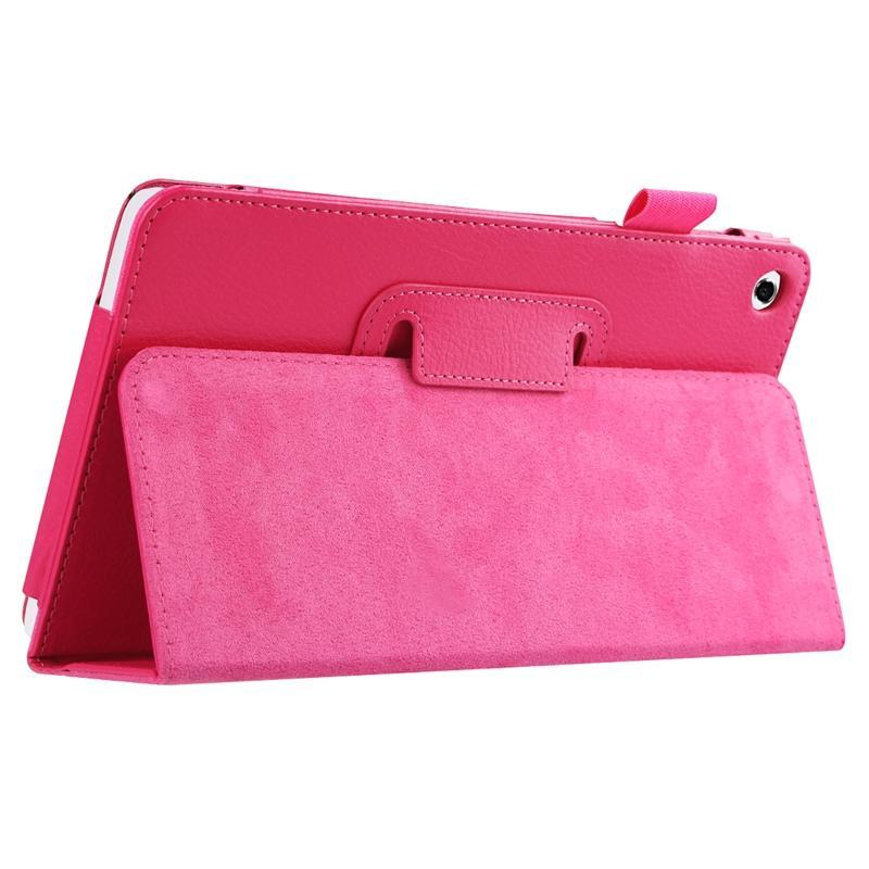 AMZER Texture Solid Color Leather Case with Holder For Huawei MediaPad M1 / S8-301W - Magenta