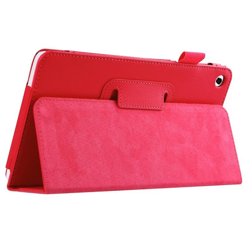 AMZER Texture Solid Color Leather Case with Holder For Huawei MediaPad M1 / S8-301W - Red
