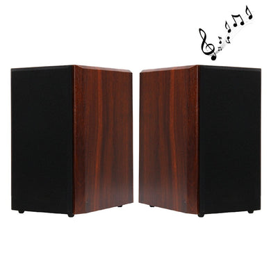 One Pair 30W 5 inch Bass Bookshelf Speakers for Home Theater