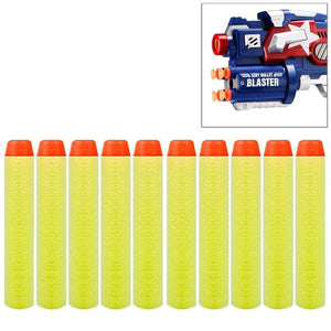10 PCS 7.2cm EVA Soft Blaster Darts Bullets(Yellow)