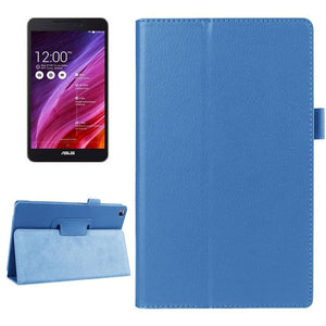 AMZER Texture Flip Smart Leather Case with Holder & Sleep / Wake-up For ASUS FonePad 8 FE380 - Blue