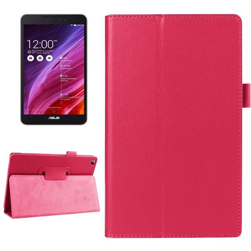 AMZER Texture Flip Smart Leather Case with Holder & Sleep/Wake-up For ASUS FonePad 8 FE380 - Magenta