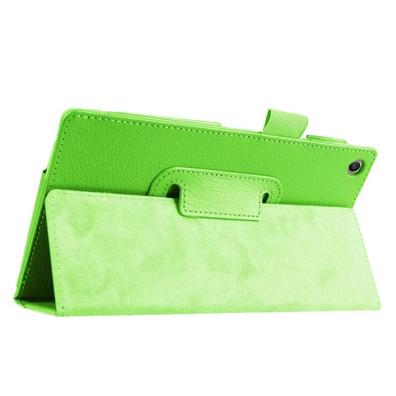 AMZER Texture Horizontal Flip Leather Case with Holder For Asus ZenPad 7.0 Z370CG-Green
