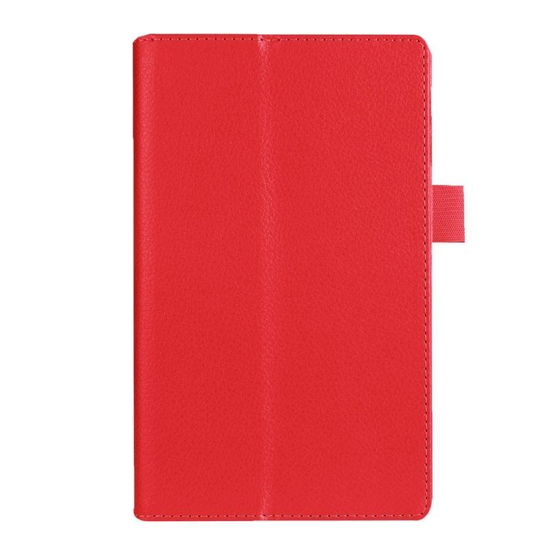 AMZER Texture Horizontal Flip Leather Case with Holder For Asus ZenPad 7.0 Z370CG-Red