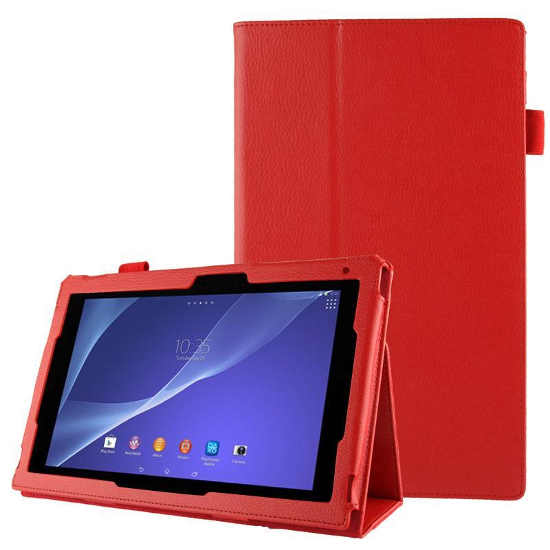 AMZER Texture Leather Case with Holder For Sony Xperia Tablet Z2 10.1 - Red