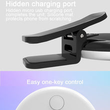 Load image into Gallery viewer, 3 Levels of Brightness Cold + Warm + Mixed Light Mini Cosmetic Mirror / Beauty Fill Light with 20 LED Light, For iPhone, Galaxy, Huawei, Xiaomi, LG, HTC and Other Smart Phones(Blue)