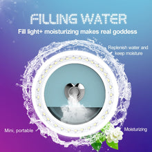 Load image into Gallery viewer, 3 Levels of Brightness 33-Led Beauty Moisturizing Mist Selfie Clip Fill Light, For iPhone, Galaxy, Huawei, Xiaomi, LG, HTC and Other Smart Phones(Black)