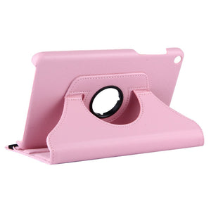 AMZER Texture Flip 360° Rotation Leather Case Holder For Huawei MediaPad T1 8.0 / T1-821w - Pink