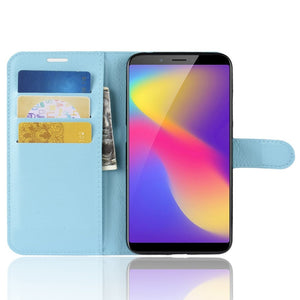 AMZER Texture Flip Leather Case with Wallet & Holder & Card Slots For ZTE Nubia V18 & N3 - Blue