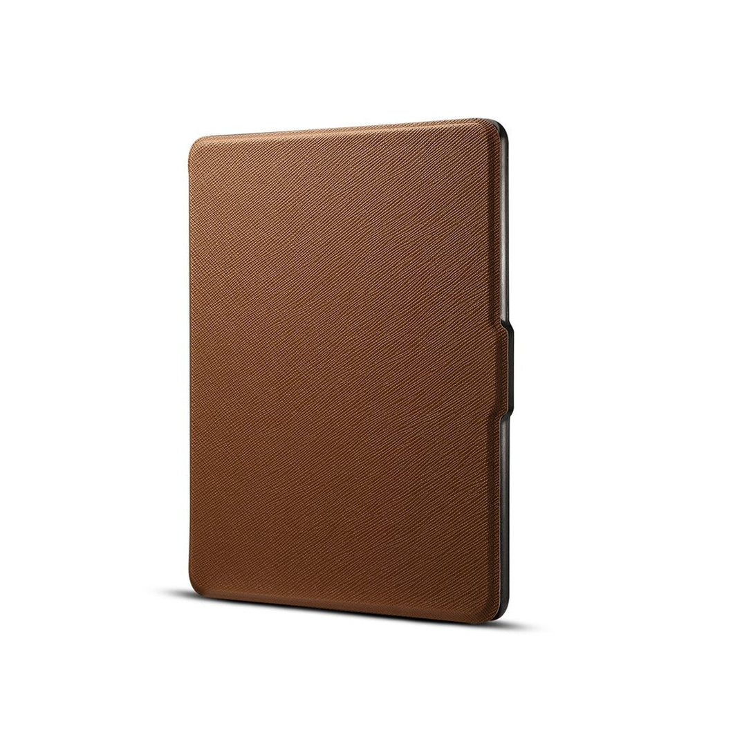 AMZER Cross Texture Flip Case with Sleep / Wake-up Function For Amazon Kindle Paperwhite - Brown