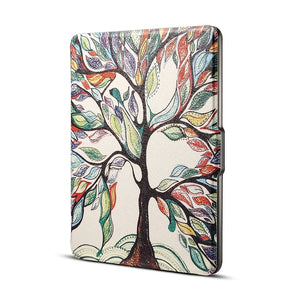 AMZER Tree Print Flip PU Leather Protective Case with Sleep / Wake-up For Amazon Kindle Paperwhite