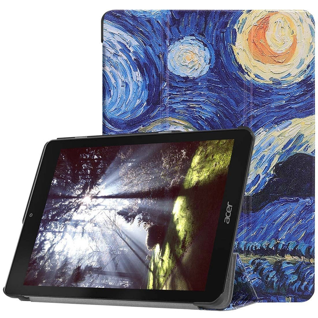 AMZER Starry Sky Horizontal Flip PU Leather Case with 3-Fold Holder For Acer Chromebook Tab 10