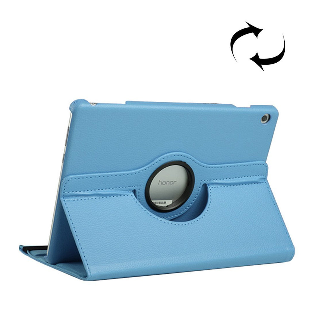 AMZER Texture Flip 360° Rotation Leather Case with Holder For Huawei MediaPad T5 10.1 - Blue