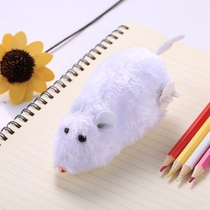 3 PCS Creative Funny Clockwork Spring Power Plush Mouse Rat Pet Playing Toy, Random Color Delivery