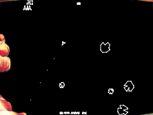 asteroids retro game