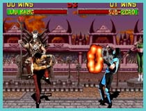 mortal kombat retro game