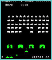 space invaders retro arcade