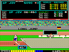 track and field retro game