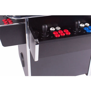 black tabletop cabinet with arcade buttons