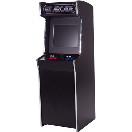 GTX upright arcade machine with black and silver marquee