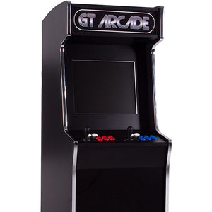 black retro arcade cabinet stand-up
