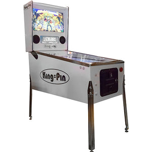 king-pin virtual pinball machine in white