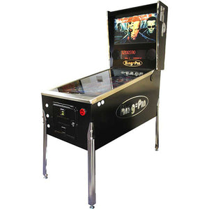 virtual pinball cabinet in black