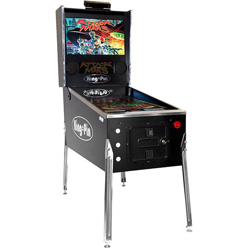king-pin virtual pinball machine in black
