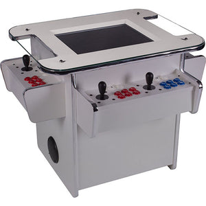 gt2500 arcade machine in white with red and blue buttons