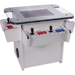 3-sided gtx white cocktail arcade