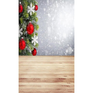 Christmas Tree Digital Printed Vinyl Studio Backdrop Background Cloth Photography Props Home Decor