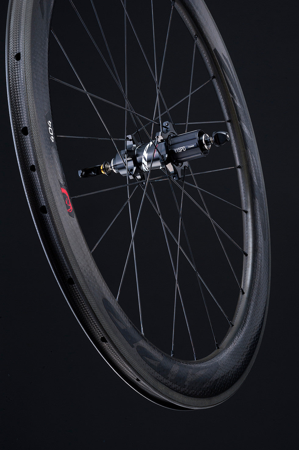 Zipp 404 carbon clincher rear wheel 11 spd black decal