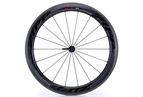 Zipp 404 Carbon Clincher - Front Wheel - Black Decal