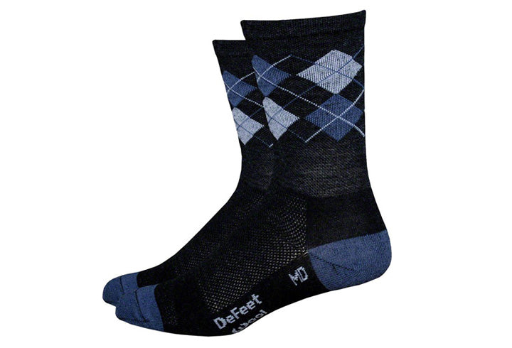Defeet Wooleator Hi Top Argyle Sock