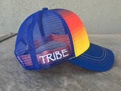 Tribe Technical Trucker Hat Rainbow Gradient OS