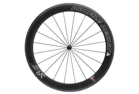 Profile Design 58 TwentyFour Series Carbon Clincher Front Wheel