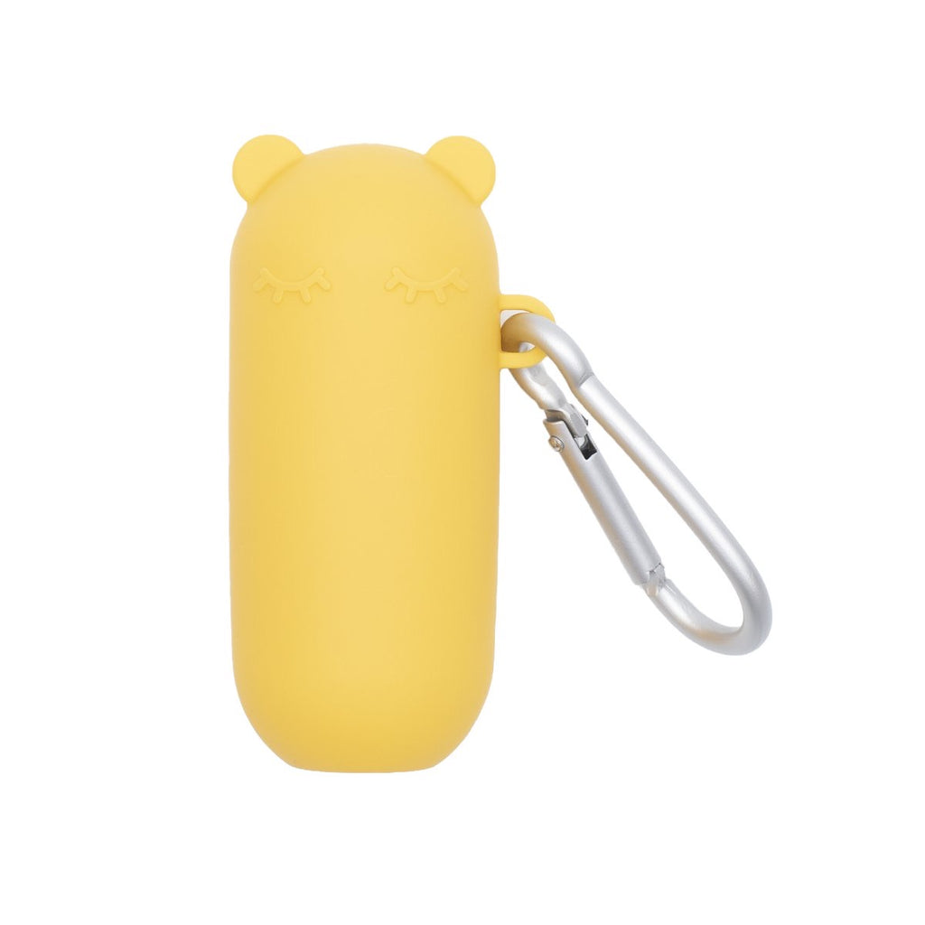 Silicone travel straw - yellow - Project Ten