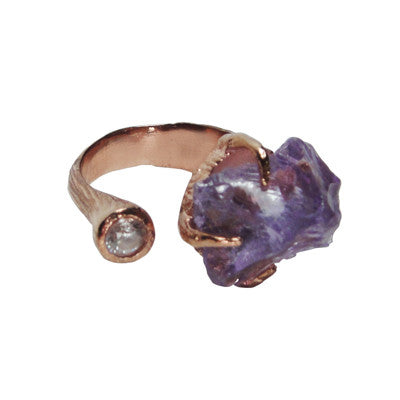 Craft Me Up Amethyst & Yellow Gem with rose gold band