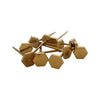 Pony Lane Hexagon Gold Push Pin