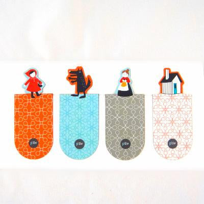 Set of 4 Little Red Riding Hood Magnetic Bookmarks
