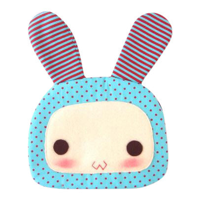 Craft Me Up Cute Bunny Face Shoulder Bag with strap in Red dots and Teal