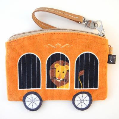 Circus Lion in Cart Coin Purse