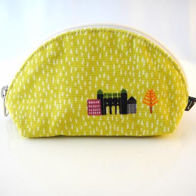 Lime green zip coin purse