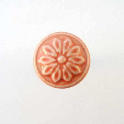 Drawer Knobs - Pink Ceramic Floral