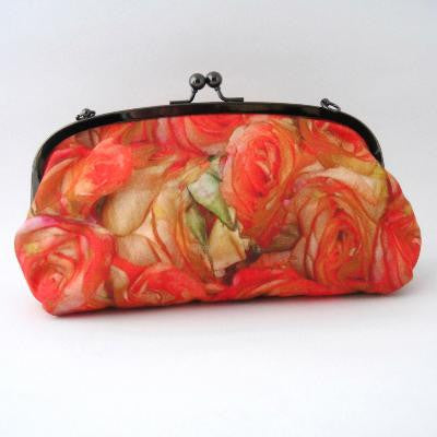 Craft Me Up Red Roses Print Shoulder Purse
