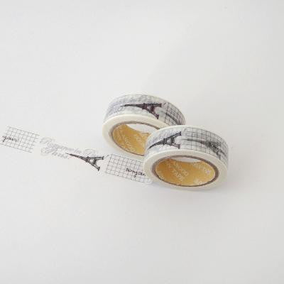 Washi Tape - Le Eiffel with Grid Lines