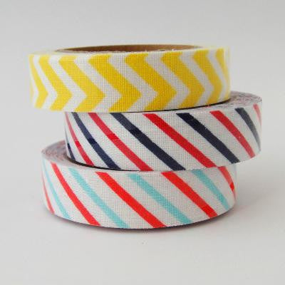 Fabric Tape - Chevron or Stripes