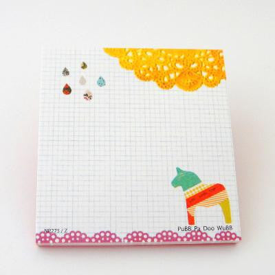 Washi Tape Pony Notepad